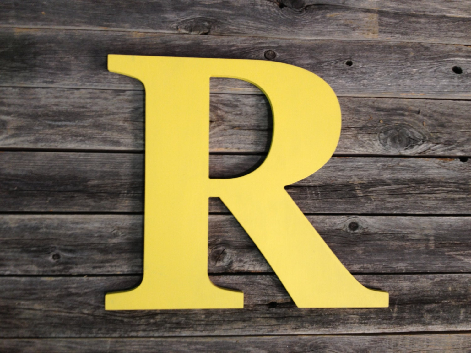 Wooden Letter R 8 Nursery Office or Living Room Capital