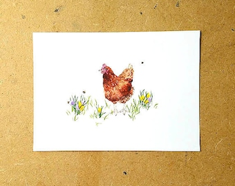 Chicken Print, Nursery Art, Nursery Decor, Mothers Day Gift, Spring Decor, Chicken Lover Gift, Farmhouse Decor