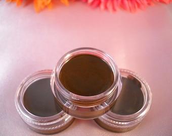 Non Toxic Organic Mineral Gel Eyeliner    Dark Brown  Cruelty Free Makeup  Natural Eyeliner