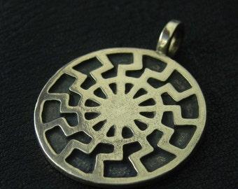"Bronze ""Black Sun"" pendant"