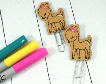 Deer Planner Clippie - paper clip -fits happy, mambi, erin condren, bullet journals- back to school gifts- teachers - felties