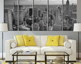 Extra Large Wall Art NEW YORK Canvas Prints - Black and White New York City Skyscrapers - New York City Skyline, Wedding Gift