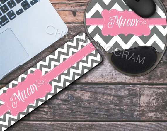 Personalized Mouse Pad with Wrist Rest & Keyboard Wrist Rest Memory Foam Wrist Wrest Mouse Pad Keyboard Class of 2018 Graduation Gift