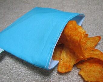 SALE!! Reusable Snack Bag - Light Blue