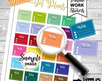 Work Planner Stickers, Printable Stickers, Work Stickers, Planner Decor, Functional Stickers, Work Checklists