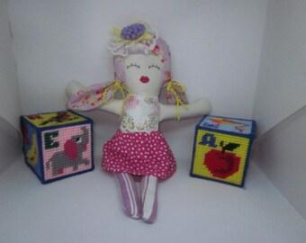 Doll, Cloth Doll, Rag Doll, Cloth Rag Doll, OOAK Rag Doll, Fabric Doll, First Doll