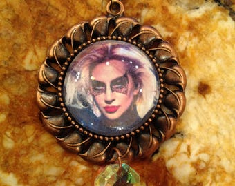 Lady GAGa, MUSE, photo pendant, locket, necklace, jewelry, music, icon, divine feminine, gypsy, rebel, mother monster,