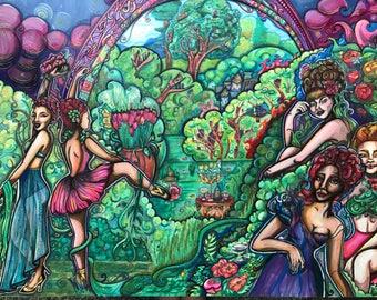 Canvas print 20x16, Versailles in Technicolor