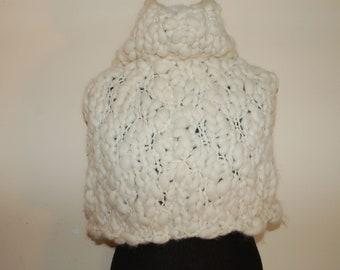 handknit merino wool poncho