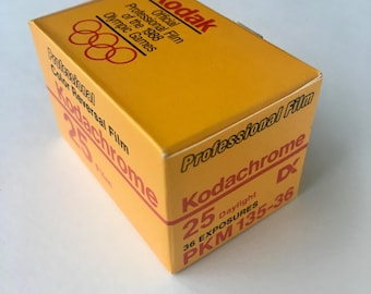 SALE - Unopened Box - Kodachrome 25 PKM-135 36 exposure, 35mm Film - EXPIRED - Color Film, Transparency Film