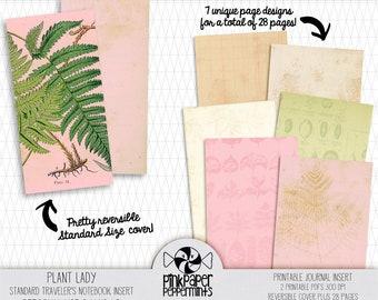 Standard Traveler's Notebook Insert - Printable Plant Lady Journal - Bible Art Journaling, DIY Journal - Junk Journal - Digital Download