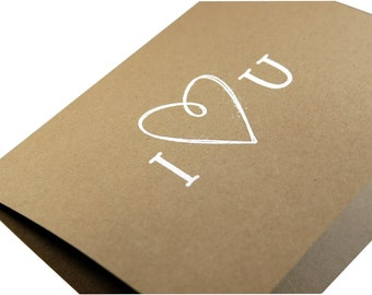 I love you card, Anniversary card, Love card, Engagement card