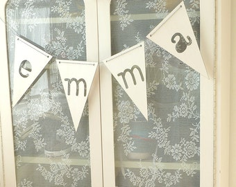 Customized Garland Bunting with Letters Lasercut from Wood