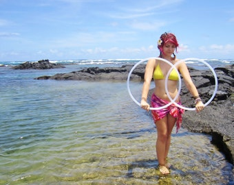 Minis Set: Natural Polypro Poi Hula Hoop Set with Custom Tubing Size, Diameter and Grip Options!