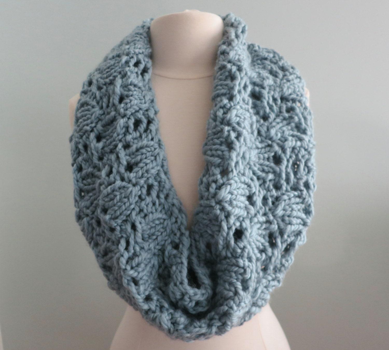 Excelente Chunky Knit Cowl Pattern Imágenes - Manta de Tejer Patrón ...