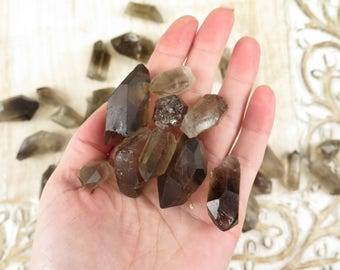Smokey Quartz Crystal Points - Natural Quartz - Healing Crystals and Stones - Reiki Crystals - Natural Crystal Points - Raw Rough Smokey