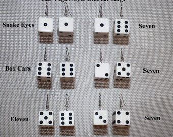Earrings Handcrafted from Las Vegas style Dice