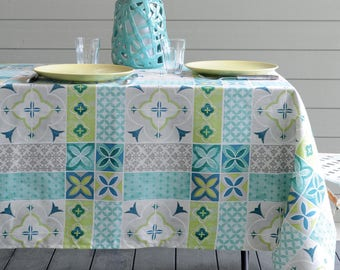 French Provence LISBON Rectangle Tablecloths - French Oilcloth Indoor Outdoor Coated Tablecloth - French Decor Lovers Gifts - Table Decor