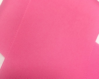 "3"" HOT PINK / Bright Pink Grosgrain Ribbon -100% Polyester  - Popular Color!  Great for Cheer Bows & Hair Bows"