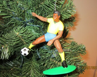Pele  soccer Christmas ornament many to choose from.