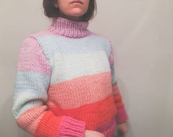 FLCTY Sweater Pattern #2 – soft colors and stripes