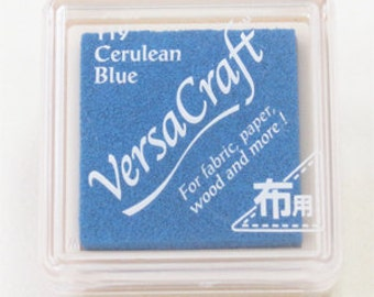 Ocean Blue Ink VersaCraft Japanese (119 Cerulean Blue) multipurpose ink for paper fabric leather wood