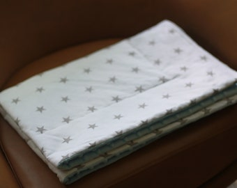 White/ Grey Weighted Therapy Blanket- all sizes and weight available