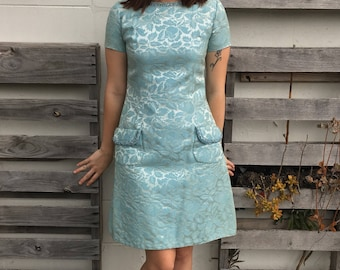 Gorgeous 1950s Brocade and Jeweled Dress