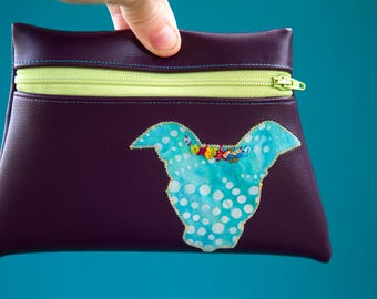 PIbble Love pouch, pitbull pouch, dog pouch, zipper pouch