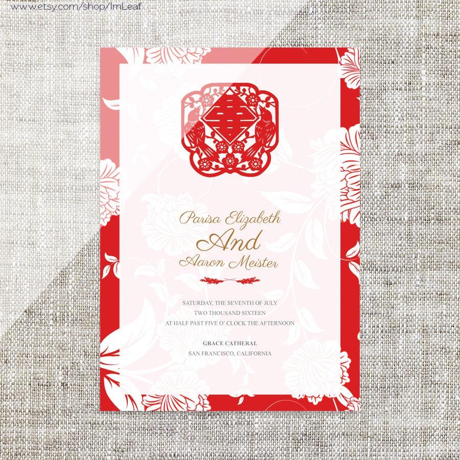 Diy Wedding Invitations Canada: DIY Printable / Editable Chinese Wedding Invitation Card