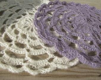 Mohair Crochet Newborn Doily Photography Prop