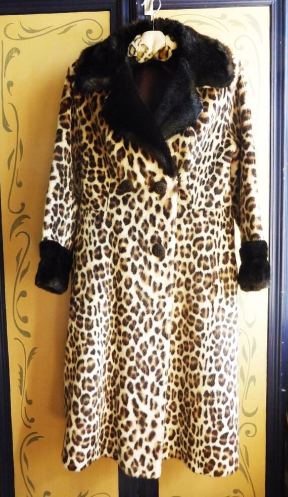 Coat Katmandu' Fur Faux 1960s Glamourous by Print 'Lister Leopard wqXpnBHx8