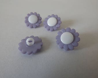 button flower acrylic