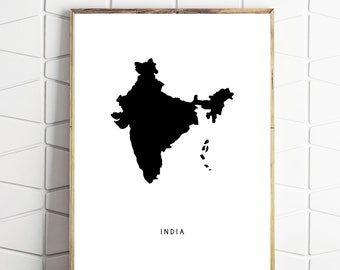 india wall art print, india printable, india wall decor, india poster, india download, instant download
