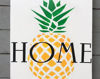 Home Pineapple wall hanging