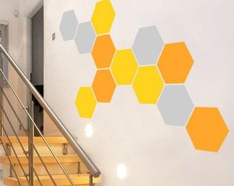 Honeycomb Wall Decal, Hexagon Decor Stickers Mural Art Hexagons Wall sticker, Australian Made