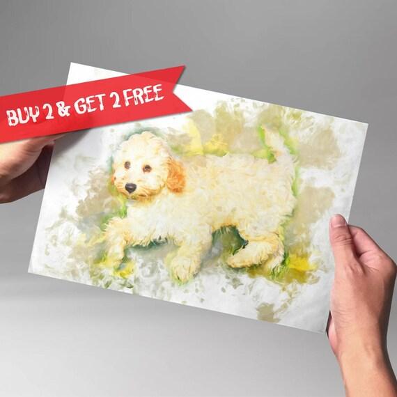 Cockapoo Watercolor Art Print Dog Poster Dog Lover Poster