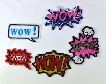 WOW Comic Iron On Patch  Assorted Applique WC010818