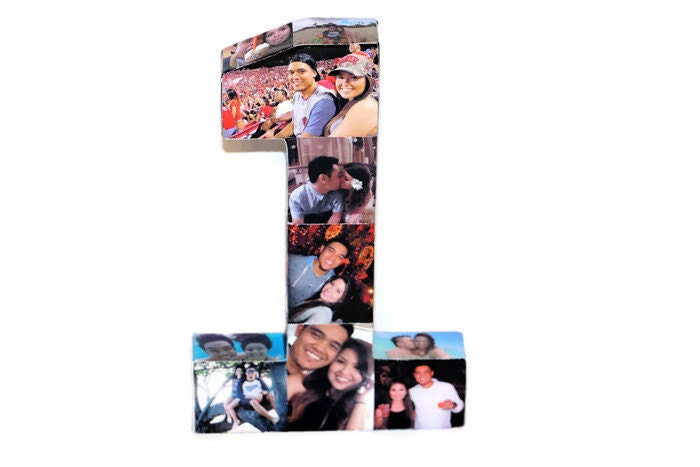 Baby\'s First Birthday Number 1 One 1st Wedding Anniversary Paper ...