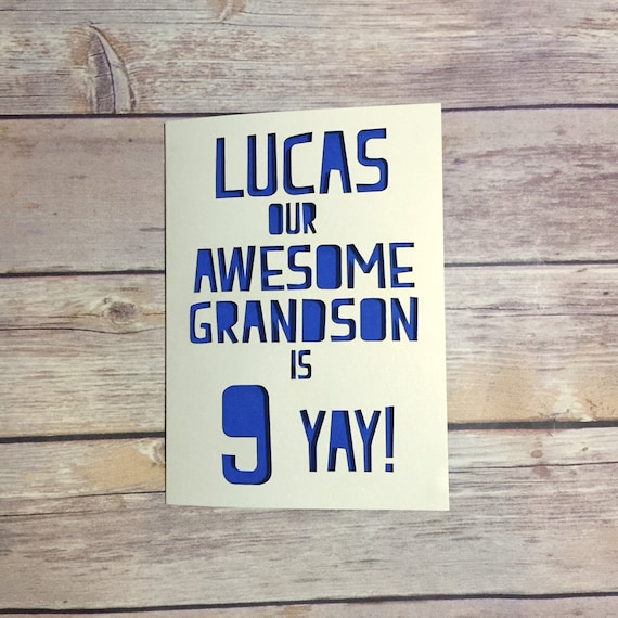 Personalised grandson birthday card childrens birthday card personalised grandson birthday card childrens birthday card grandson 1st birthday kids birthday card 1st 2nd 3rd 4th 5th 6th 7th bookmarktalkfo Images