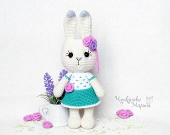 PATTERN Busya the little bunny PDF pattern crochet toy