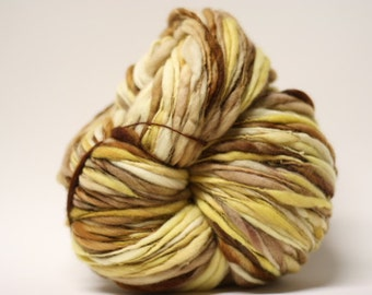 Handspun Merino Wool Yarn Thick and Thin Slub  tts(tm) Hand dyed Half-Pounder LR 1603x