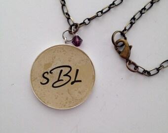 Long Monogram Necklace