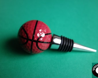 Basketball Golf Ball Wine Bottle Stopper