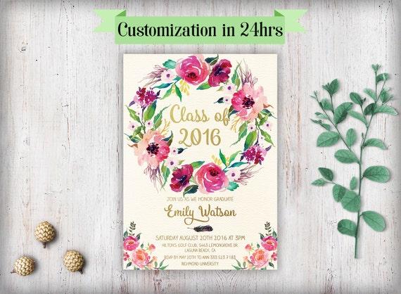printable graduation invitation
