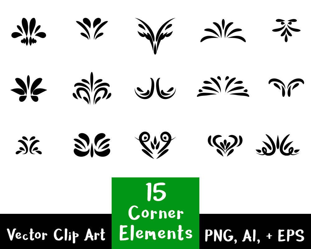 flourish divider flourish clipart 15 decorative corner elements text divider 7725
