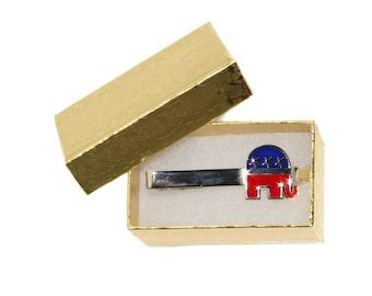 Men's Republican Tie Clip - Elephant Political
