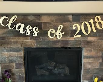 Graduation party decorations / graduation decorations / graduation banner / class of 2018 banner / graduation decor / 2018 graduation / 2018