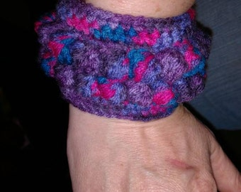 Cuff Bracelet, Bracelet, Handcrocheted Bracelet, Handmade Jewelry, Ladies Accessories, Jewelry, Yarn Jewelry, Ready To Ship, USA Made