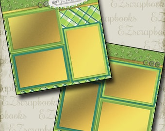 HAPPY St. PATRICK'S Day - 2 Premade Scrapbook Pages - EZ Layout 401
